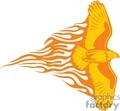 eagle with flames on white