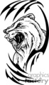 predator predators animal animals wild vector signage vinyl-ready vinyl ready cutter black white bear bears grizzly tattoo tattoos design designs gif, png, jpg, eps