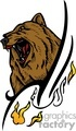 predator predators animal animals wild vector signage vinyl-ready vinyl ready cutter color bear bears brown grizzly fire fires flaming flames flame tattoo tattoos design designs
