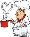 funny chef making a lovely  valentines dish