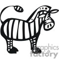 black and white Cartoon Zebra