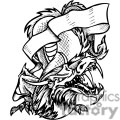 dragon with scroll tattoo design