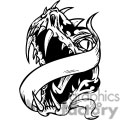 dragon dragons eps jpg png gif vector clipart images vinyl-ready vinyl ready cutter banner scroll scrolls black white