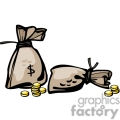 western vector wild west money bag bags gold coins currency gif, png, jpg, eps