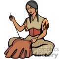 indian indians native americans western navajo sew sewing female vector eps jpg png clipart people gif
