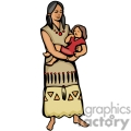 indian indians native americans western navajo female family vector eps jpg png clipart people gif