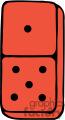 red dominoe gif, png, jpg, eps