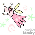 Pink angel cartoon
