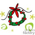 Whimsical Christmas wreath