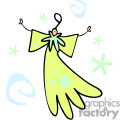 whimsical flying angel with a halo over top