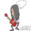 Rocker dude playing the guitar