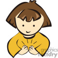 A Little Brown Haired Girl Clapping her Hands