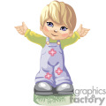 a little blue eyed boy in overalls holding his arms out gif, png, jpg, eps