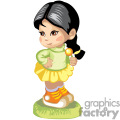Cute little girl wearing a summer dress