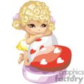 A Little Blonde Haired Girl Wearing a Yellow Dress Leaning on a Red Heart