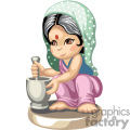 a little indian girl mixing gif, png, jpg, eps