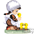 little girl holding a baby chick gif, png, jpg, eps