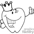 2973-Smiling-Tooth-Cartoon-Character-With-Golden-Crown