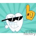 happy cartoon teeth