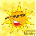 hot sun cartoon character