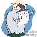 3216-Happy-Halloween-Ghost-Flying-Next-To-Tombstone-And-Bats-Near-A-Full-Moon