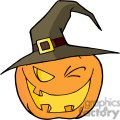 3107-Halloween-Pumpkin-Winking-A-Witch-Hat