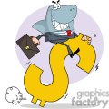 business shark riding a dollar symbol gif, png, jpg, eps, svg, pdf