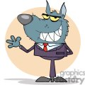 3262-Wolf-Business-man-Waving-A-Greeting