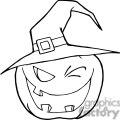 3106-Halloween-Pumpkin-Winking-A-Witch-Hat