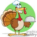 3508-Happy-Turkey-Chef-Serving-A-Platter
