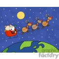 santa in his sleigh delivering gifts gif, png, jpg, eps, svg, pdf