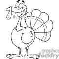 3501-Turkey-Mascot-Cartoon-Character