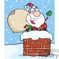 3401-Santa-Claus-In-Chimney