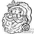 black and white Santa Claus