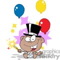African-American-New-Year-Baby-With-Fireworks-And-Balloons
