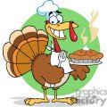 3530-Happy-Turkey-Chef-With-Pie