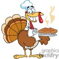3528-Happy-Turkey-Chef-With-Pie