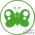 4129-green-butterfly-silhouette-in-circle  gif, png, jpg, eps, svg, pdf