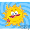 4037-Happy-Sun-Mascot-Cartoon-Character-With-Shades