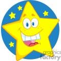 4078-Happy-Star-Mascot-Cartoon-Character
