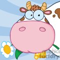 cow cartoon character  gif, png, jpg, eps, svg, pdf