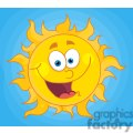 4034-Happy-Sun-Mascot-Cartoon-Character