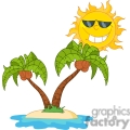 sun shining over a couple palm trees gif, png, jpg, eps, svg, pdf