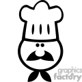 black and white chef