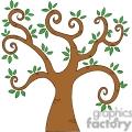 brown swirl tree