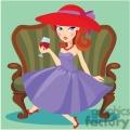 women having a glass of wine