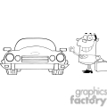 4325-Businessman-Waving-To-Convertible-Car
