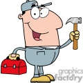 4314-Construction-Worker-With-Hammer-And-Tool-Box