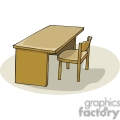 Cartoon chair and desk