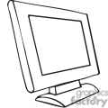 black and white outline of a computer monitor